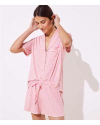 LOFT - Petaled Pyjama Set - Lyst