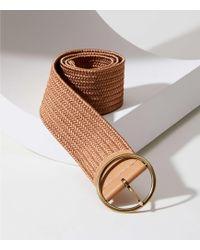 LOFT - Round Buckle Woven Belt - Lyst
