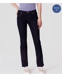 LOFT - Tall Curvy Straight Leg Jeans In Dark Rinse Wash - Lyst