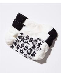 LOFT - Shadow Floral No Show Sock Set - Lyst