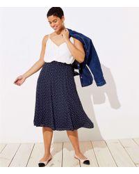 LOFT - Plus Dotted Godet Midi Skirt - Lyst