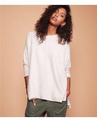 LOFT - Lou & Grey Seamed Poncho Sweater - Lyst