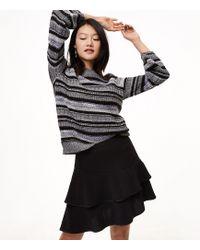LOFT | Tiered Flounce Skirt | Lyst