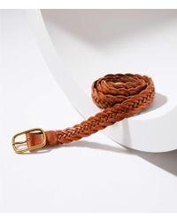 LOFT - Braided Leather Belt - Lyst
