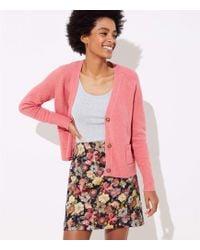 LOFT - Petite Floral Jacquard Shift Skirt - Lyst
