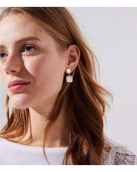 LOFT - Double Square Drop Earrings - Lyst