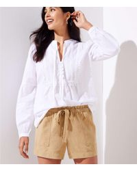 LOFT - Tie Waist Safari Shorts - Lyst
