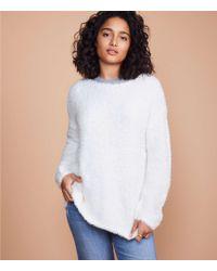 283e914a4c20 Express Fuzzy Sleeveless Turtleneck Sweater in White - Lyst