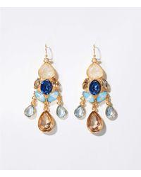LOFT - Stone Chandelier Earrings - Lyst