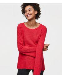 LOFT - Petite Flare Sleeve Sweater - Lyst