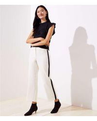 LOFT - Petite Wide Leg Pants In Side Stripe - Lyst