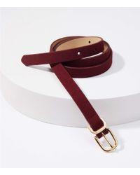 LOFT - Suede Skinny Belt - Lyst