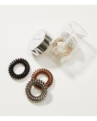 LOFT - Metallic Hair Tie Set - Lyst