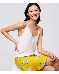 LOFT - Covered Button Strappy Cami - Lyst