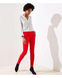 LOFT - Tall Skinny Split Waist Trousers In Marisa Fit - Lyst