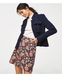 82216dad3ab940 Dorothy Perkins Multi Colour Floral Jacquard Mini Skirt - Lyst