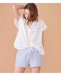 LOFT - Lou & Grey Garment Dye Tweed Drawstring Shorts - Lyst