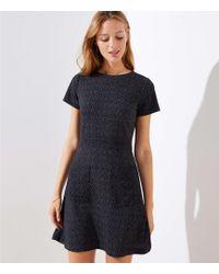 LOFT - Petite Flecked Pocket Flare Dress - Lyst