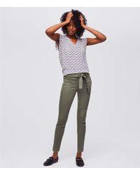 LOFT - Petite Skinny Patch Pocket Tie Waist Pants - Lyst