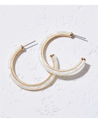 335e2e4a5 LOFT - Resin Hoop Earrings - Lyst