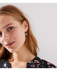 LOFT - Faceted Stone Drop Earrings - Lyst
