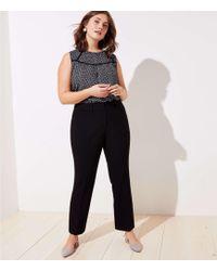 LOFT - Plus Trousers In Doubleweave - Lyst
