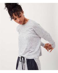 LOFT - Lou & Grey Form Marled Cropped Sweatshirt - Anytime - Lyst