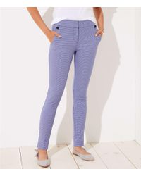 LOFT - Tall Skinny Houndstooth Ankle Pants In Julie Fit - Lyst