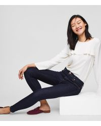 LOFT - Modern Skinny Jeans In Dark Rinse Wash - Lyst