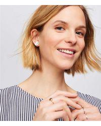 LOFT - Shell Floral Stud Earrings - Lyst