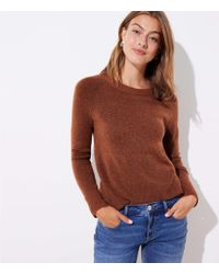LOFT - Petite Bar Back Sweater - Lyst