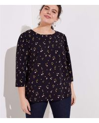 002c4582c374be Madewell Silk Memory Blouse In Stencil Blossom in Gray - Lyst