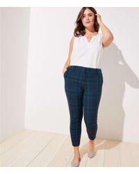 LOFT - Plus Plaid Skinny Ankle Trousers - Lyst
