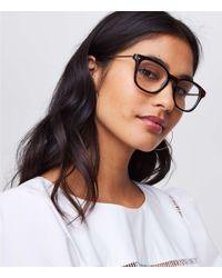 LOFT - Metallic Arm Keyhole Reading Glasses - Lyst