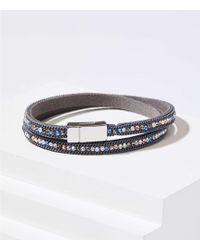 LOFT - Crystal Wrap Bracelet - Lyst