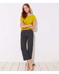 LOFT - Tall Mixed Stripe Wide Leg Pants - Lyst