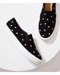LOFT - Embroidered Daisy Slip On Trainers - Lyst