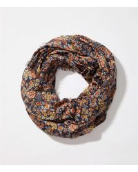 LOFT - Floral Infinity Scarf - Lyst