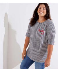LOFT - Plus Lovely Striped Vintage Soft Sweatshirt Tee - Lyst