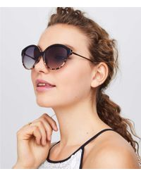LOFT - Ombre Oversized Round Sunglasses - Lyst