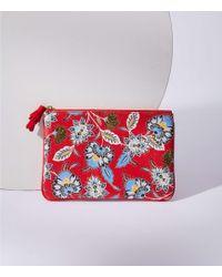 LOFT - Paisley Floral Pouch - Lyst