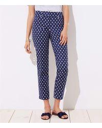 LOFT - Diamond Dot Riviera Trousers In Julie Fit - Lyst