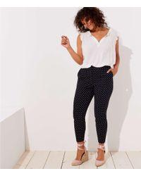 LOFT - Plus Skinny Polka Dot Ankle Pants - Lyst