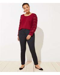 LOFT - Plus Velvet Dot Skinny Ankle Trousers - Lyst