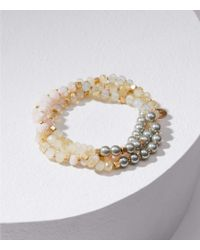 LOFT - Stretch Beaded Bracelet Set - Lyst