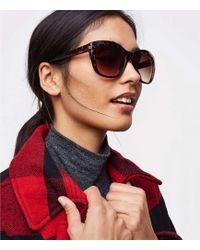 LOFT - Tortoiseshell Print Cateye Sunglasses - Lyst