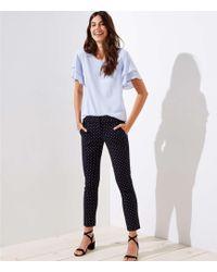 LOFT - Tall Skinny Polka Dot Ankle Pants In Julie Fit - Lyst