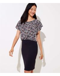 LOFT - Back Zip Pencil Skirt - Lyst