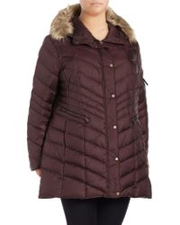 Marc New York - Plus Faux Fur-trimmed Hooded Down Coat - Lyst