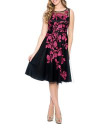 Decode 1.8 - Floral Embroidery Fit-&-flare Dress - Lyst